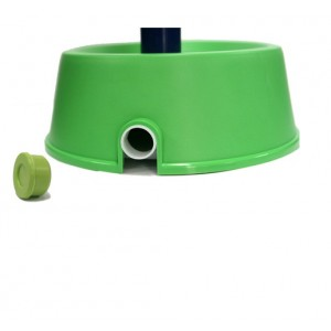 Alpha Dog Series Rainbow Water Feeder & Food Bowl Set